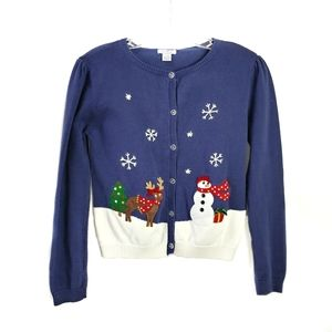 Heartstrings Christmas embelished cardigan sweater